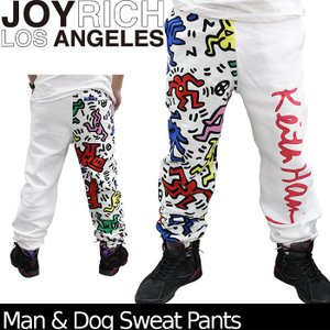 【SALE!!】JOYRICH スウェットパンツ Man & Dog Sweat Pants U1311PT  ジョイリッチ■AP_10off[DM便送料無料!!]|nest001