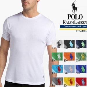POLO RALPH LAUREN 無地T クルーネックTシャツ Crew(contrast neck tape) PL86 ポロ ラルフローレン[DM便送料無料!!]|nest001