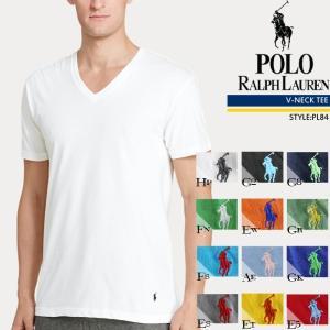 POLO RALPH LAUREN 無地TVネック Tシャツ V-NECK PL84 ポロ ラルフローレン[DM便送料無料!!]|nest001