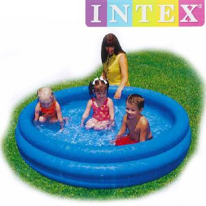 [限定特典][あす楽]INTEX クリスタルブループール  ME-7034 58446NP CRYSTAL BLUE POOL インテックス シンプル 家庭用|nest001