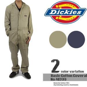 ディッキーズ Basic Cotton Coverall-Regular Tall 定番ワーク長袖つなぎ カバーオール Dickies 48300 作業着 ツーリング nest001