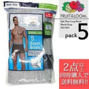 Fruit Of The Loom ボクサーパンツ Boxer Brief 5SL7601 5pk Short Leg Boxer Brief Black Grey 黒 グレー■CRNG|nest001