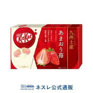 (ネスレ公式通販)キットカット ミニ あまおう苺 12枚 (KITKAT チョコレート)(KITKAT チョコレート ご当地キットカット 九州土産)|nestle
