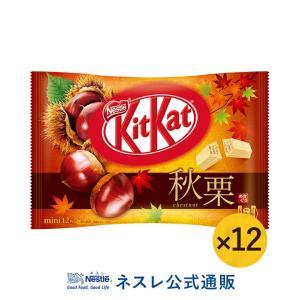(ネスレ公式通販)キットカット ミニ 秋栗 12枚 ×12(KITKAT チョコレート)|nestle