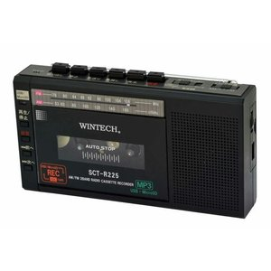 WINTECH SCT-R225K(ブラック) マイクロSD/USB録音対応コンパクトラジカセ|net-jtc