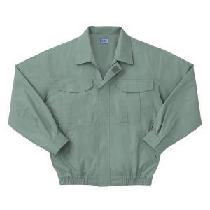 空調服 綿薄手長袖作業着 M-500U 〔カラーモスグリーン: サイズ L〕 電池ボックスセット|net-plaza