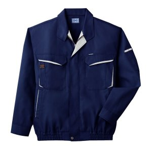 空調服 綿・ポリ混紡長袖作業着 K-500N 〔カラー:ネイビー サイズ:M〕 電池ボックスセット|net-plaza