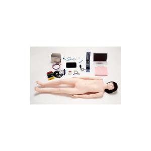 フィジカルアセスメントドール/看護実習モデル人形 〔ともこPlus〕 専用タブレット付き M-103-0〔代引不可〕