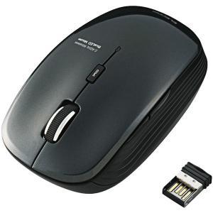 【商品名】 エレコム ワイヤレスBlueLEDマウス/静音5ボタン/2.4GHz/ブラック M-BL...