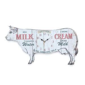 インテリアのアクセントにもなる、牛の形の掛け時計です。 製造国:中国 素材・材質:MDF 商品サイズ...
