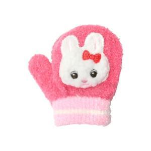 [半額]子ども用手袋 Cuty Kids <ミトンタイプ> ローズ うさぎ柄|net-shibuya