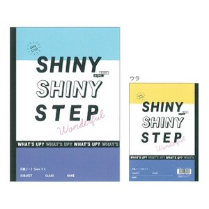 B5 方眼ノート 5mm SHINY STEP柄 07596 [M便 1/1]|net-shibuya