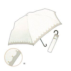 折りたたみ日傘 晴雨兼用 スタープリント 50cm ホワイト 31265|シブヤ文具