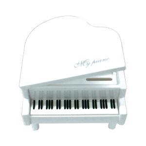 貯金箱 グランドピアノ型 ホワイト 32283|net-shibuya