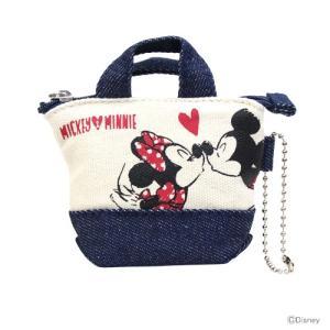 ミッキーマウス ミニーマウス ミニチュアトートコインケース<小銭入れ・財布> ミッキー&ミニー柄 47867 [ゆうメール可]|net-shibuya