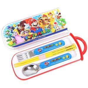 スーパーマリオ 食洗機対応スライド式トリオセット<箸・フォー...