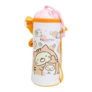 [20%OFF]すみっコぐらし 子供用ペットボトルカバー 500ml対応 ぽかぽかねこびより柄 KPB5C|net-shibuya