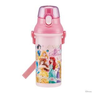 飲みたい時にワンプッシュですぐ飲める ダイレクトタイプのプラスチック水筒。 ディズニー・プリンセスの...
