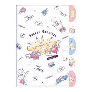 ポケットモンスター ダイカット5インデックスクリアファイル A4 スニーカー柄 06116|net-shibuya