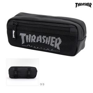 スラッシャー<THRASHER> ペンポーチ<筆箱> L ホワイト 74604901|net-shibuya