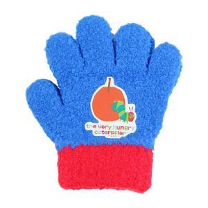 エリック・カール はらぺこあおむし 子ども用手袋 <5本指タイプ> ブルー ec41818[ゆうメール可]|net-shibuya