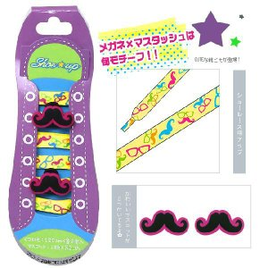 Shoe up<シューアップ・靴紐・シューレース> OJIガール柄<ヒゲ柄> 4901770375991|net-shibuya