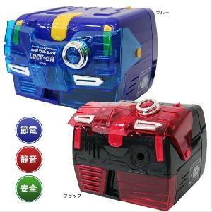 SONIC<ソニック> 電動鉛筆削り スーパータフブレードロックオン 2色展開 SK-689-ake|net-shibuya