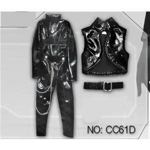 9964eb48e4651 ... ドールズフィギュア cc61D 1 6フィギュア用衣装 ボンデージキャットスーツ 黒(DOLLSFIGURE CC61D