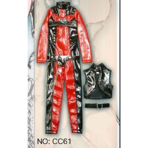 27a397108e6c1 ... ドールズフィギュア cc61 1 6フィギュア用衣装 ボンデージキャットスーツ 赤 黒タイプ