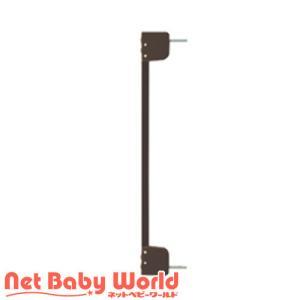 木のオートロックゲート用サイドフレーム (ダークブラウン)【拡張フレーム】 netbaby