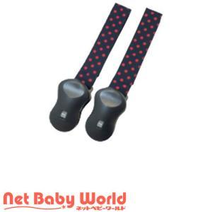 コットンファブリック ブランケットクリップ レッドドット ( 2個 )/ 赤ん坊カンパニー netbaby