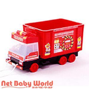 365日あすつく★代引・送料無料★ 車シリーズ おもちゃ箱 (消防車) 錦化成 Nishiki Kasei おもちゃ 玩具 収納|netbaby