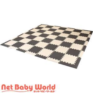 フロアーマット オリジナルツートンカラー (ブラウン&ベージュ)  フロアマット 【厚さ16mm・枚数77枚】 netbaby