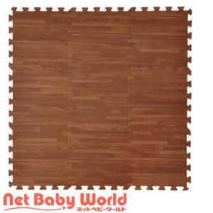 抗菌フロアーマット 9枚セット ブラウンウッド ジョイントマット リトルプリンセス LittlePrincess フロアマット|netbaby