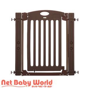 ★送料無料★ 階段上で使えるゲート ブラウン カトージ Katoji ベビーゲート 階段上用ゲート|netbaby