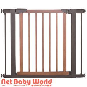 スタイリッシュゲート Beni Wood Wide 取付幅75cm〜95cm ブラウン ベニ ウッドワイド JTC ベビーゲート(全部)|netbaby