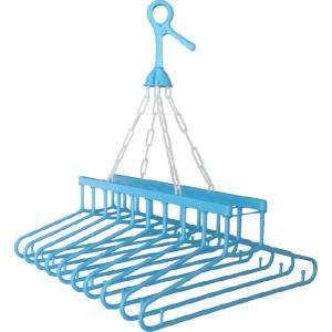 グリップ付でガッチリキャッチ 吊りハンガー10本 商品使用時サイズ:約395×465×530Hmm