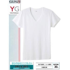 グンゼのYG、メンズVネックTシャツ。 本体の素材は羽のように軽く上質な繊維「マイクロモダールエアー...