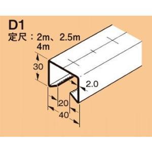 ネグロス D1-4M ワールドダクター ダクターチャンネル(穴なしタイプ)4m 溶融亜鉛めっき鋼板