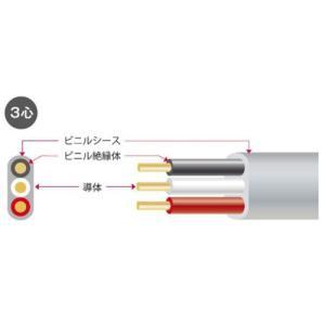 矢崎 VVF2.0-3C 600Vビニル絶縁ビニルシースケーブル平型 3心 2.0mm 100m