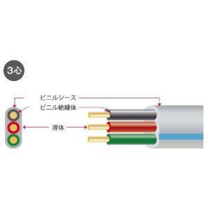 矢崎 VVF2.0-3C 住宅内200V分岐回線用ビニル絶縁ビニルシースケーブル平型 3心 2.0mm 黒赤緑 100m [代引き不可]