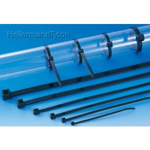 ヘラマンタイトン AB150-W インシュロック ABタイ 66ナイロン 耐候グレード 黒 φ1.0〜36mm 100本入