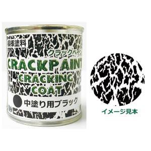 模様塗料クラックペイントクラッキングコートブラック 1/12L ひび割れ塗料 中塗用【シマモト】|netdesimamoto