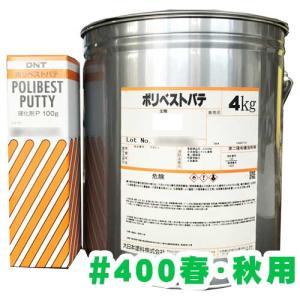 ポリベストパテ#400春・秋用(硬化剤付き) 4.1kgセット netdesimamoto