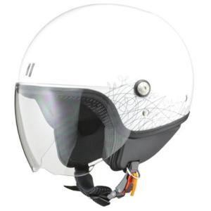 リード工業 PALIO(パリオ) ジェットヘルメット ホワイト レディースフリー|neteceterashop