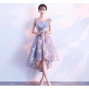 前短後長 花嫁ドレス パーティードレス Wedding Dress ウエディングドレス ミニドレス ...