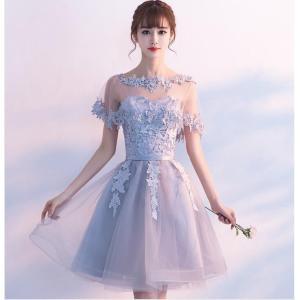 ウエディングドレス 結婚式 2次会 花嫁 二次会ドレス エンパイア フォーマルドレス ショートドレス...
