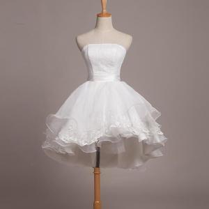 ホワイト 白いドレス ウエディングドレス 結婚式 2次会 花嫁 二次会ドレス エンパイア フォーマル...