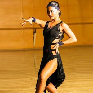 社交ダンス衣装 ラテンダンス衣装 ダンスドレス ラテンドレス チャチャ タンゴ ワンピース スタンダ...