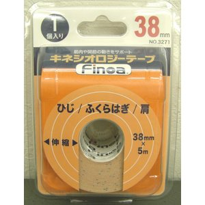 Finoa B.Pキネシオロジ―テープ(3.8cm)/3271/ひじ・ふくらはぎ・肩用 サポート用伸縮テープ巾3.8cm netintm